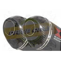 Twin 200mm Oval Black...