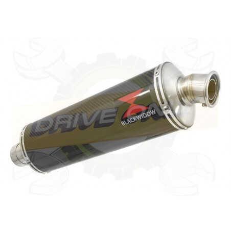 R850R ROADSTER exhaust tube de raccord et Ovale En Carbone Silencieux 400mm