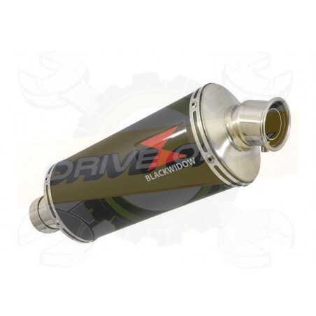 R1150 R ROCKSTER exhaust Silencieux kit & Silencieux Ovale Noir En Inox 300mm