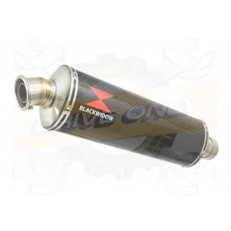VFR800F VFR 800 1997-2003 (RC46) Tube de raccord et Silencieux Ovale En Carbone 400mm