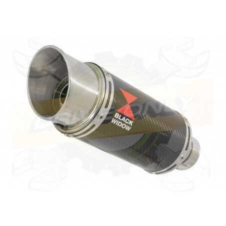 VFR800F VFR 800 1997-2003 (RC46) Tube de raccord et Silencieux Rond En Carbone 200mm