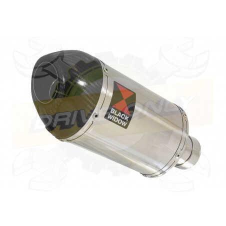 VFR800F VFR 800 1997-2003 (RC46) Tube de raccord et Silencieux Ovale En Inox +Carbone200mm