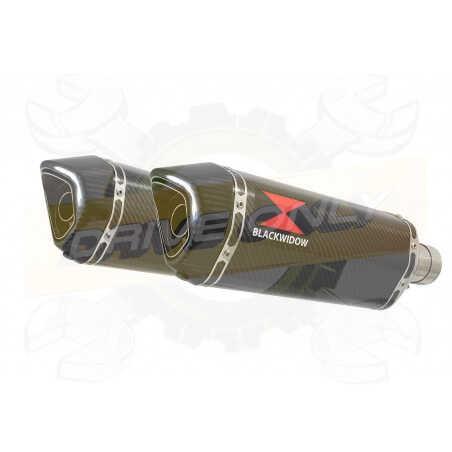 VFR 800 VTEC (RC46) 2002 - 2013 Tube de raccord+ SilencieuxHexagonale En Carbone 300mm