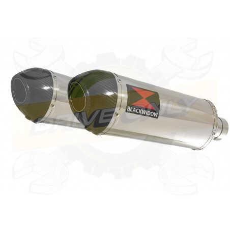 VFR 800 VTEC (RC46) 2002 - 2013 Tube de raccord+ SilencieuxOvale Inox+ Carbone300mm