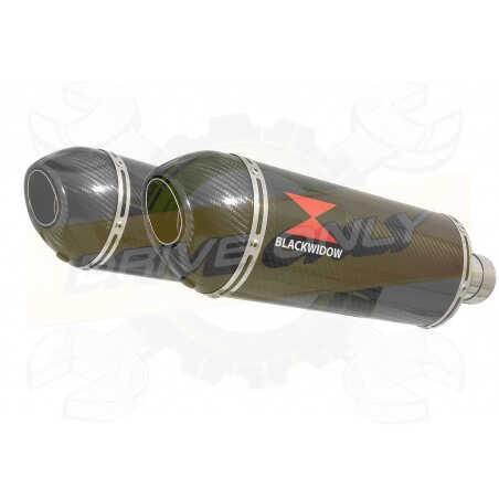 VFR 800 VTEC (RC46) 2002 - 2013 Tube de raccord+ SilencieuxOvale En Carbone + Carbone300mm