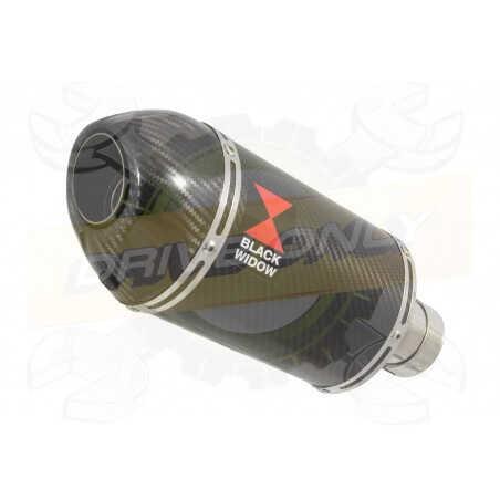 VFR800F VFR 800 2014-2017 (RC79) Exhaust tube de raccord et Ovale En Carbone Silencieux + Carbon Tip 200mm