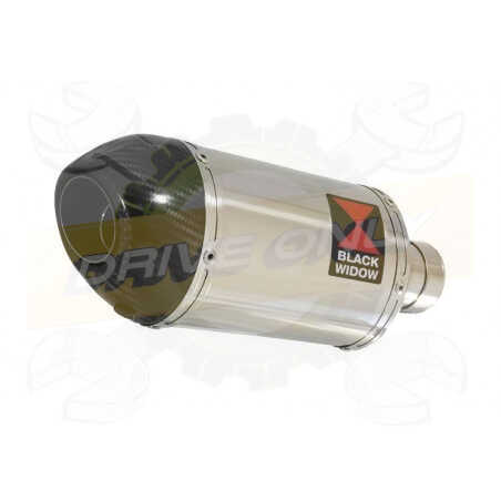 Vespa GT 250 ie 60 2006 - 2009 Ligne complète& Silencieux Ovale En Inox +Canule En Carbone200mm