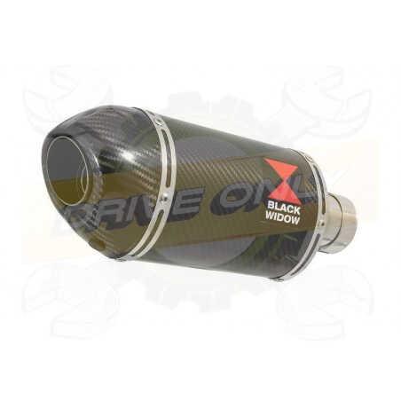 Vespa GTS 125 4T ie Super 2009 - 2016 Ligne complète& Silencieux Ovale En Carbone200mm