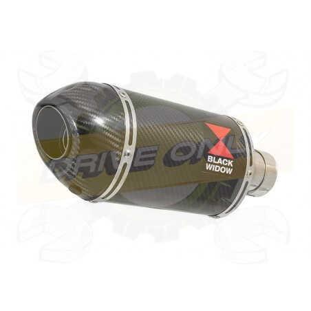 VFR 750 VFR750 FL-FP 90-93 (RC36) Tube de raccord et Silencieux Ovale En Carbone + Carbone200mm