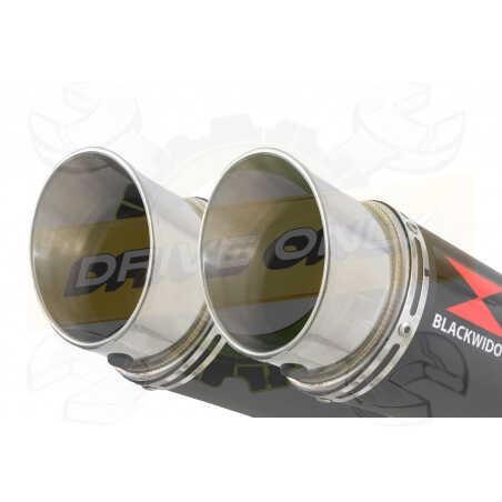 XT660Z TENERE 2008-2017 Exhaust tube de raccords & GP Style Rond Black Stainless Silencieuxs 360mm
