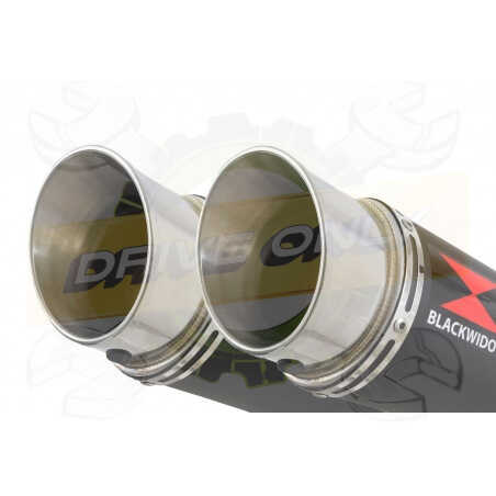 XT660Z TENERE 2008-2017 Tube de raccord& SilencieuxGP Style Rond Noir en Inox360mm