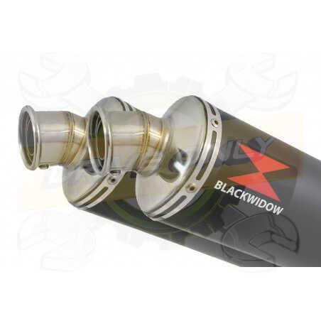 XT660Z TENERE 2008-2017 Tube de raccord& SilencieuxRond Noir en Inox300mm