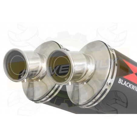 XT660Z TENERE 2008-2017 Tube de raccord& SilencieuxOvale Noir en Inox300mm