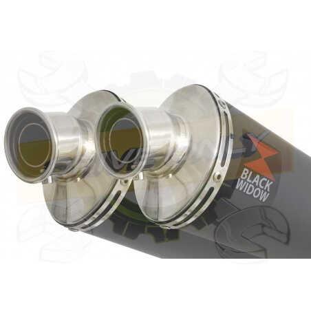XT660Z TENERE 2008-2017 Exhaust tube de raccords & Ovale Black Stainless Silencieuxs 230mm