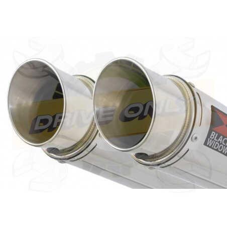 XT660Z TENERE 2008-2017 Tube de raccord& SilencieuxGP Style Rond en Inox 230mm
