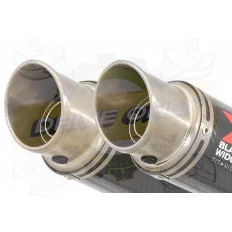 XT660Z TENERE 2008-2017 Tube de raccord& SilencieuxGP Style Rond En Carbone + Canule enTitane 230mm