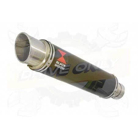 R6 YZF600 2017-2018 (RJ27) Hi level Silencieux kit + Silencieux GP Rond Noir en Inox350mm