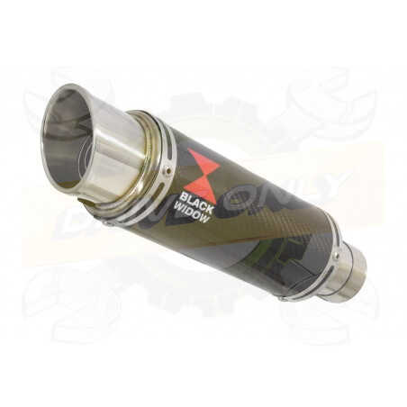 R6 YZF600 2017-2018 (RJ27) Hi level Silencieux kit + Silencieux GP Rond En Carbone 230mm