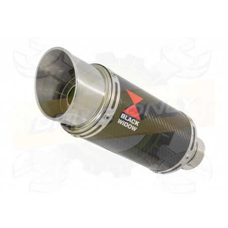 R6 YZF600 2017-2018 (RJ27) Hi level Silencieux kit + Silencieux Rond En Carbone 200mm