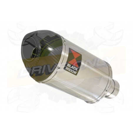 R6 YZF600 2017-2018 (RJ27) Hi level Silencieux kit Ovale Stainless Silencieux & Carbon Tip 200mm
