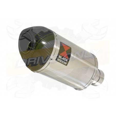 R6 YZF600 2017-2018 (RJ27) Hi level Silencieux kit + Silencieux Ovale en Inox & Canule enCarbone200mm
