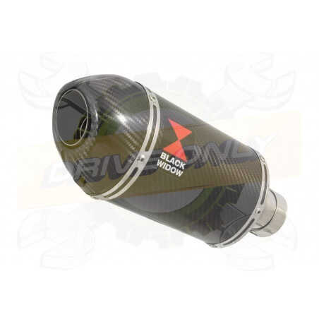 R6 YZF600 2017-2018 (RJ27) Hi level Silencieux kit + Silencieux Ovale En Carbone200mm