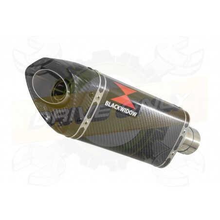 R6 YZF600 2017-2018 (RJ27) Silencieux kit + Silencieux Tri-Ovale En Carbone 250mm