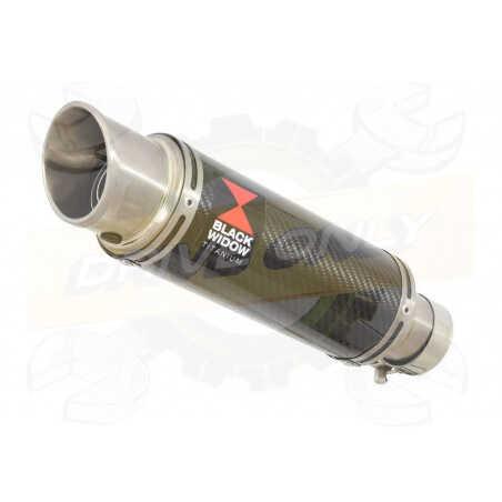 R6 YZF600 2017-2018 (RJ27) Silencieux kit + Silencieux Rond GP Style en Carbone + Canule enTitane230mm