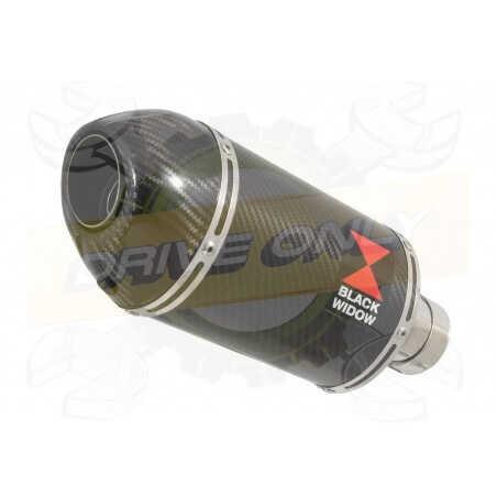 R6 YZF600 2017-2018 (RJ27) Silencieux kit Ovale En Carbone Silencieux + Carbon Tip 200mm