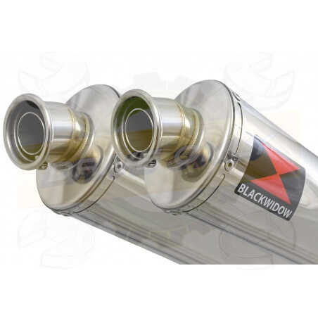Speed Triple 1050 S R 2011-2015 Par paire Exhaust Silencieux Kit + Ovale Stainless Silencieux 300mm