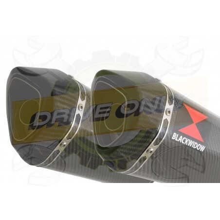 Speed Triple 1050 S R 2011-2015 Par paire / Silencieux Kit + Silencieux Hexagonale enCarbone 300mm
