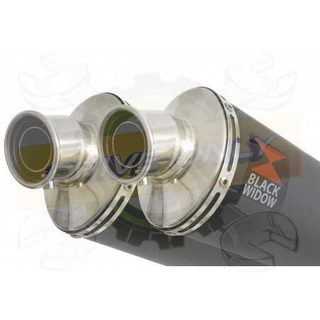 Speed Triple 1050 S R 2011-2015 Par paire /Silencieux Kit + Silencieux Ovale Noir en Inox230mm