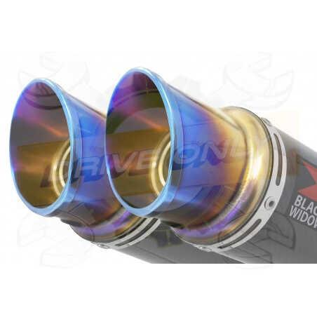 Speed Triple 1050 S R 2011-2015 Par paire /Silencieux Kit + Silencieux GP Rond Carbone & canule en Inox Anodisé 230mm