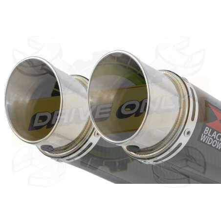 Speed Triple 1050 S R 2011-2015 Par paire / Silencieux Kit + Silencieux GP Rond Carbone 230mm