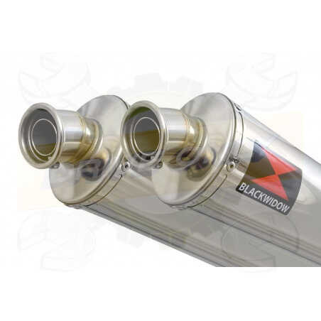 Speed Triple 1050 S R 2011-2015 Par paire Exhaust Silencieux Kit + Rond Stainless Silencieux 400mm