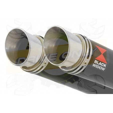 Speed Triple 1050 S R 2011-2015 Par paire/Silencieux Kit + Silencieux GP Rond Noir en Inox350mm