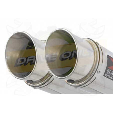 Speed Triple 1050 S R 2011-2015 Par paire / Silencieux Kit + Silencieux Rond en Inox 200mm