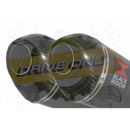 Speed Triple 1050 S R 2011-2015 Par paire / Silencieux Kit + Silencieux Ovale En Carbone200mm