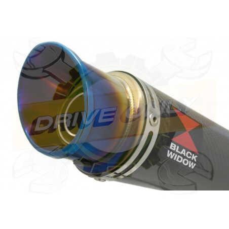 GSX1200 INAZUMA Ligne complète& Silencieux Rond En Carbone + Canule en InoxAnodisé 230mm