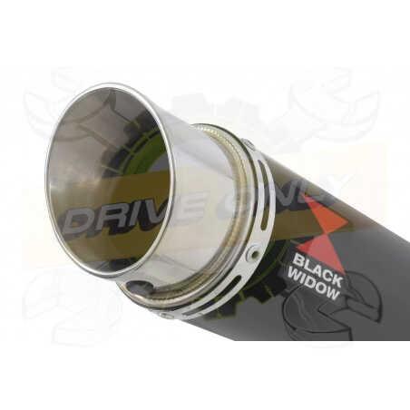 GSX1200 INAZUMA Ligne complète& Silencieux GP Rond Noir En Inox 350mm