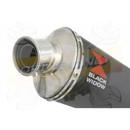 GSX1200 INAZUMA Ligne complète& Silencieux Ovale Noir En Inox 230mm