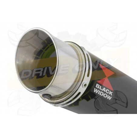 GSX1200 INAZUMA Ligne complète& Silencieux GP Rond Noir En Inox 230mm