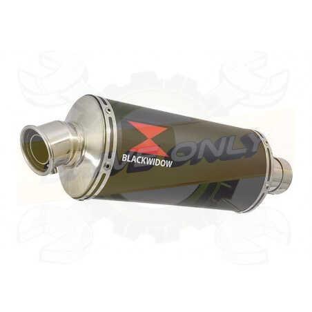 GSX1250FA GSX 1250 2010-2016 Refroidissement à Eau / Tube de raccord + Silencieux Ovale Noir en Inox300mm