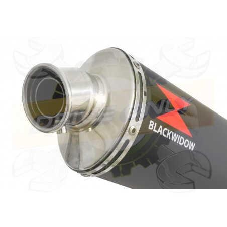 GSX1200 Inazuma tube de raccord et Silencieux Rond Noir En Inox 400mm