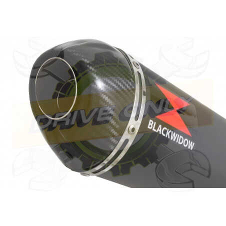GSX1200 INAZUMA Tube de raccord et Silencieux Ovale Noir En Inox + Canule En Carbone400mm