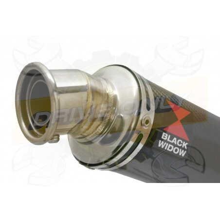 GSX1200 InazumaTube de raccord et Silencieux Rond En Carbone 350mm
