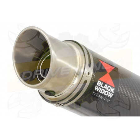 GSX1200 InazumaTube de raccord et Silencieux GP Rond En Carbone & Canule enTitane230mm