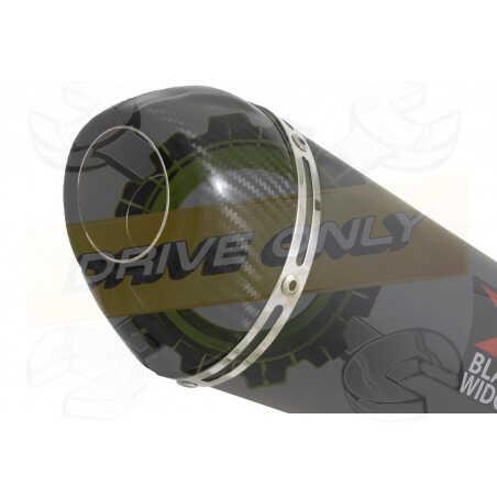 GSX1200 INAZUMATube de raccord et Silencieux Ovale Noir En Inox + Canule En Carbone200mm
