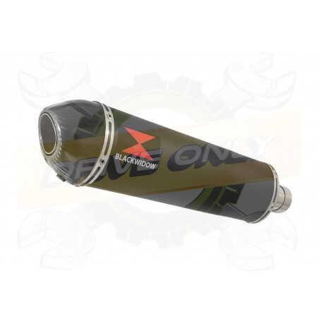 GSX750 Inazuma Tube de raccord et Silencieux Ovale Noir En Inox + Canule En Carbone 400mm