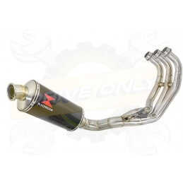 XSR 900 2016 2017 Low Level De-cat Exhaust System with 300mm Oval Carbon Fibre Silencer